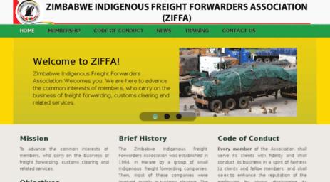 Visit Ziffa org - ZIFFA - Zimbabwe Indigenous Freight