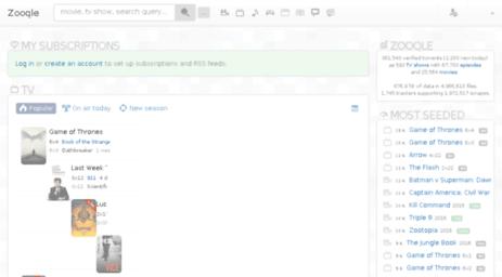 Visit Zooqle com - Start   Zooqle: Verified torrents